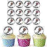 Giocatore di hockey su ghiaccio 24personalizzata torta/torta di compleanno decorazioni-Easy pretagliato cerchi