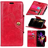 Huawei P20 Wallet Case, Huawei P20 Leather Case, Danallc Premium PU Leather Phone Case Folio Stand Bumper Back Case Compatible With Huawei P20 - Red