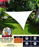 Hippo Triangle Sun Shade Sail - (90-95%) Sun Blockage - Heavy Duty