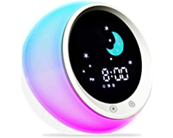Time to Wake Alarm Clock for Kids, Children's Sleep Trainer, Kids Wake Up Light, Sleep Sound Machine