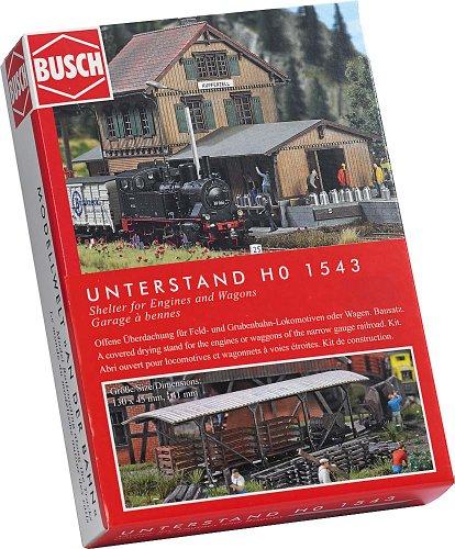 Busch 1543 - Unterstand für Loks und Wagen