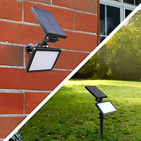 48 LEDs IP65 Waterproof Solar Spotlight Landscape Lights 2 in 1 Outdoor Lighting Solar Wall Lamp for Yard Garden Driveway Pathway Lawn Pool Patio