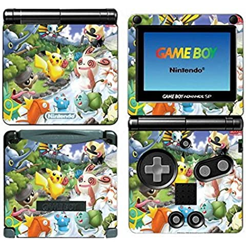 Pikachu Vinyl Skin Sticker Decal Cover for Nintendo GBA SP Gameboy Advance Game Boy by firststicker