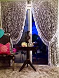 GANESHAM HANDICRAFTS - Indische Mandala Wand Hängen Tapisserie Vorhang Indischer Vorhang Boho böhmischen Zigeuner Dorm Dekor Fenster Behandlung Tapisserie Curain Boho Duschvorhang