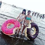 48 pulgadas de postre dulce Flotadores gigantes adulto extra grande de donut gigante piscina inflable Boya vida Natación Anillo Círculo café caliente65cm