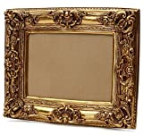 Starline Großer Barock Bilderrahmen 75x85 / 50x60 cm Gold (Antik) Im Retro Vintage Look durch Handarbeit hergestellt für Künstler, Maler. Idealer Gemälde-Rahmen für Ausstellungen Star-LINE®