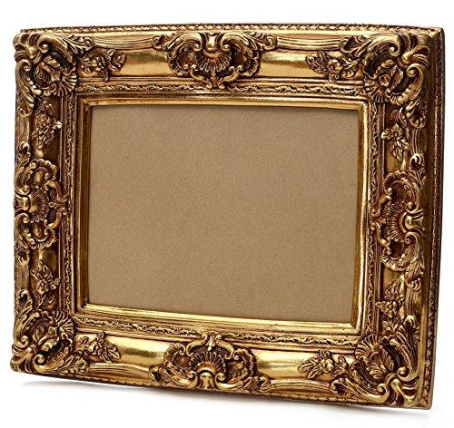 Barock Bilderrahmen Gold 40x50 cm Innenmaß - Handgemacht - Antik Deko Rahmen