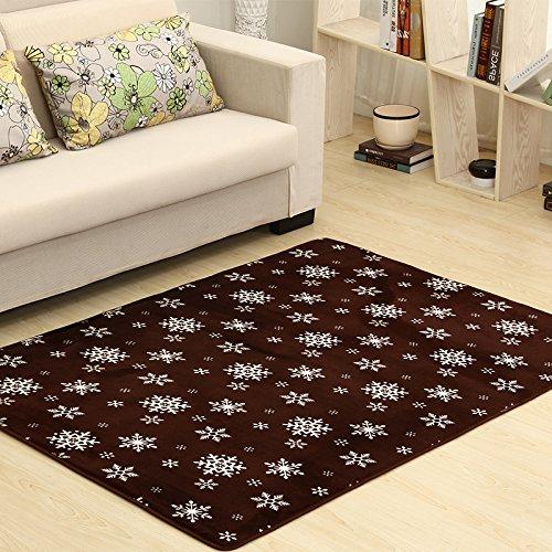 Qwer Coral spessi tappeti soggiorno tavolino mats camera da letto bed border piedi di scorrimento ,100*160, tappeti a fiocco di neve