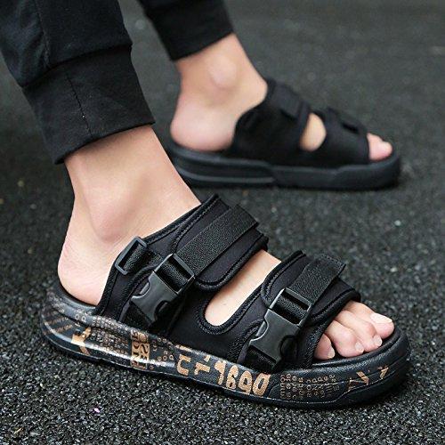 Fankou l'anti-slittamento pantofole estive scarpe da spiaggia sandali di fresco in estate e la moda tempo libero di marea e,40,901 oro nero