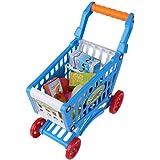 Carro de Compras de plástico para niños, los niños pequeños juegan al supermercado Supermercado Puesto de Mercado para niños