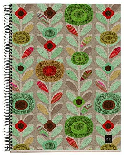 basicos-mr-2743-cahier-a5-120-feuilles-quadrillees-4-couleurs-motif-fleurs-couverture-en-papier-recy