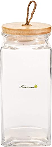 Harmony 1500 ml Glass Jar with Wooden Lid