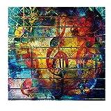 Psychedelische Musik Hinweis Graffiti Wandmalerei Wandbehang Tapisserie Musik Hinweis Wandteppich Bunte Böhmische Mandala Tapisserie Wandkunst für Schlafzimmer Wohnzimmer Wohnheim Dekor