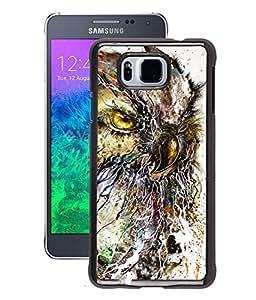 Fuson 2D Printed Owl Walpaper Designer Back Case Cover for Samsung Galaxy Alpha - D854