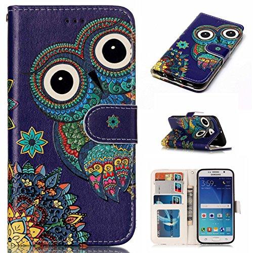 Nancen Samsung Galaxy S6 / SM-G920 (5,1 pouces) coque Haute Qualité PU Cuir Flip Étui Coque de Protection Wallet / Portefeuille Case Cover Housse - Avec Carte de Crédit Fente, Fermeture Magnétique, pour protéger votre téléphone