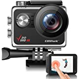 Campark V30 Native 4K Action Camera 20MP EIS Touch Screen WiFi Waterproof Camera with Optional View Angle, 2 1350mAh Batterie