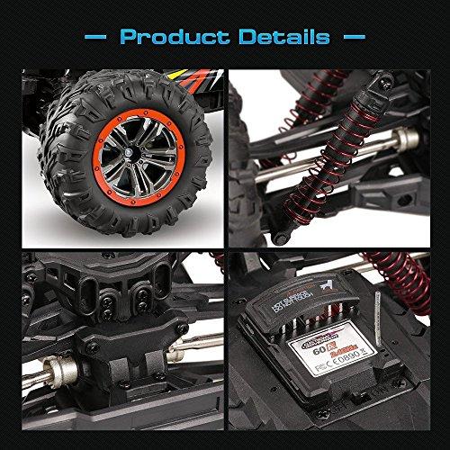 RC Auto kaufen Monstertruck Bild 3: s-idee® 18173 9125 RC Auto 1:10 4WD Buggy wasserdichter Monstertruck mit 2,4 GHz ca. 50 kmh schnell, Zwei Motoren, wendig, voll proportional 4WD ferngesteuertes Buggy Racing Auto*