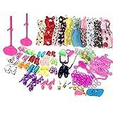 Ropa Y Accesorios Best Deals - Asiv® 58 Piezas Esencial Accesorios 10 Piezas Mini Falda Lindo para Muñecas Barbie Como Regalo de Cumpleaños de la Muchacha