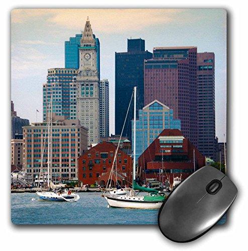 USA, Massachusetts. Boston Waterfront Skyline mit Segelboote.–Maus Pad, 8von 20,3cm (MP 189383_ 1)