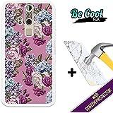 Becool® Fun- Funda Gel Flexible para ZTE Axon Elite [ +1 Protector Cristal Vidrio Templado ]Carcasa TPU fabricada con la mejor Silicona, protege y se adapta a la perfección a tu Smartphone y con nuestro exclusivo diseño Rosas y hortensias