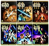 The Complete Star Wars 1 - 6 DVD Movie Collection: Episode 1 - Phantom Menace / Episode 2 - Attack Of the Clones / Episode 3 - Revenge of the Sith / Episode 4 - The New Hope / Episode 5 - The Empire Strikes Back / Episode 6 - Return of the Jedi by Ewan McGregor