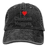 Pants Hats I Love Chicken Nuggets Denim Hat Adjustable Female Plain Baseball Hat