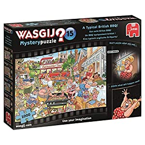 Jumbo Wasgij Mystery 15 pcs Puzzle - Rompecabezas (Puzzle Rompecabezas, Comics, Adultos, Niño/niña, 12 año(s), Interior)
