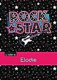 Le cahier d'Elodie - Blanc, 96p, A5 - Rock Star