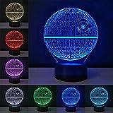 3D Optische Illusions Lampe, Star Wars 7 Farben Touch-Schalter Illusion Nachtlicht Für Schlafzimmer Home Decoration Hochzeit Geburtstag Weihnachten Valentine Geschenk (Todesstern)