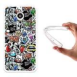 WoowCase Meizu PRO 5 Hülle, Handyhülle Silikon für [ Meizu PRO 5 ] Coloriertes Graffiti Handytasche Handy Cover Case Schutzhülle Flexible TPU - Transparent