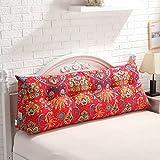 Unbekannt MMM- Bedside Rückenlehne dreieckige Bett Kissen Sofa Kissen große Kissen Frühling und Sommer Taillenschutz Pad (Farbe : #1, größe : 180 * 22 * 50cm)