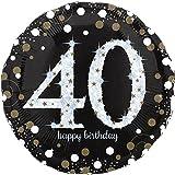paduTec Zahlenballon Ballon Folienballon Luftballon - Glamour 40 Jahre - Happy Birthday Geburtstag Jubiläum - geeignet zur befüllung mit Luft oder Helium Gas - UNGEFÜLLT - zum selber füllen