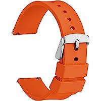 WOCCI Cinturino in Silicone con Fibbia Argento, Sgancio Rapido, 13 Colori Cinturini di Ricambio per Orologi in Gomma…