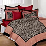 #8: Lali Prints Traditional Jaipuri Block Print King size 100% Cotton 1 Double Bedsheet with 2 Pillow Covers