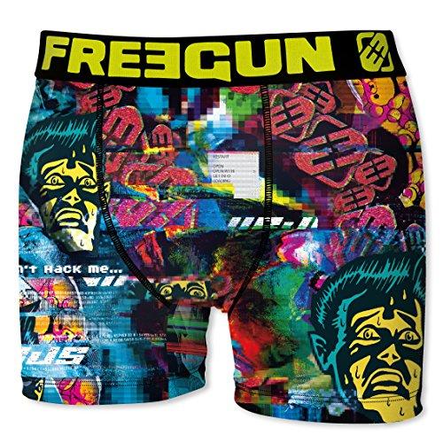 Freegun Herren Panties Boxer, 4er Pack Multicolore (Multicolor-1D3)