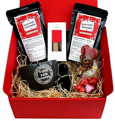 Geschenkset Zum Valentins- & Muttertag mit Spitzenkaffee aus eigener Röstung, Coppeneur-Schokolade...