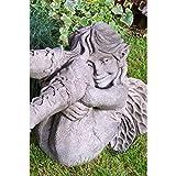 Vidroflor Gartenfigur | Elfe FAITH | strampelnd | H: 39 cm | 19 kg | aus massivem Steinguss