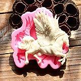 Pegasus 3D Silikon fliegendes Pferd Fondant Form Backen Sugarcraft Candy Kuchen dekorieren Form Schokolade gumpaste