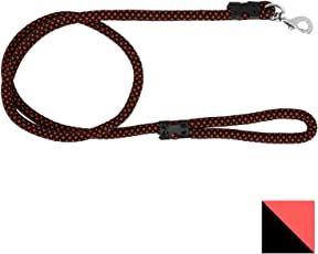 PetSutra Durable Rope Training Leash for Small, Medium & Large Sized Dogs, with Strong Brass Hook Multi Size & Multi Colored (22MM, Maroon)