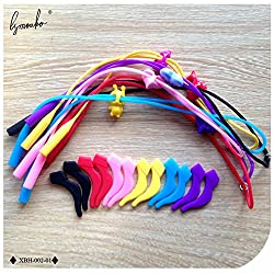 BuyWorld Lymouko 1 Set Lovely Protect Elastic Kid ld Sports Silicone Strap Glasses Spectacle Cord String Non Slip Ear Hook Holder