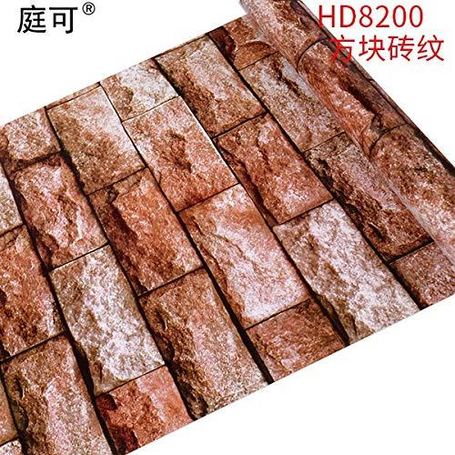 Tapete 10 Meter Pvc-selbstbeständigkeit Wohnzimmer-schlafzimmer Verdickte Schlafzimmer Verdickte Möbel Renoviert Wandaufkleber Block-Brick-Muster
