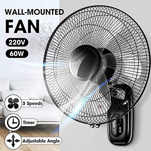 ZDYLM-Y Ventilador de Pared con Mando a Distancia, Digital Ventilador de Pared con Temporizador Incorporado, Control Remoto Incluido - 3 configuraciones de Velocidad, para Uso en Interiores