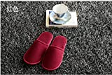 1 Pair Hotel Travel Disposable Slippers Home Guest Red Slipper (Red)