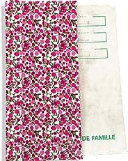 Protège livret de famille Bistrakoo Petites fleurs roses Réf. L459