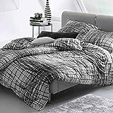 Estella Mako-Interlock-Jersey-Bettwäsche Ben, Bettdeckenbezug: ca. 140cm x 200cm, Kissenbezug: ca. 70cm x 90cm, 100% Baumwolle, bügelfrei