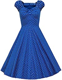E-Girl M118118D Robe de bal Vintage pin-up 50's Rockabilly robe de soirée cocktail,S-XXL