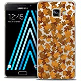 Caseink - Coque Housse Etui Samsung Galaxy A3 2016 (A310) [Crystal Motif HD Collection Autumn 16 Design Feuilles - Rigide - Ultra Fin - Imprimé en France]