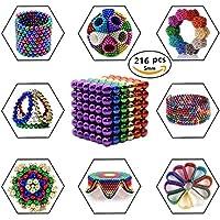 Junxave Puzzle de Bolas Magneticas de Neodimio, Puzle de Bolas de 216 Bolas Magnéticas 5mm (Colored) - Peluches y Puzzles precios baratos