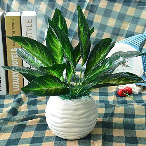 Simulation Package Home Ausstattung Kleine Topfpflanzen Dekoration Dekorativ Kunststoff Blumen Für Kunstrasen. ,9 Blätter Immergrün (Immergrün Hochzeit)
