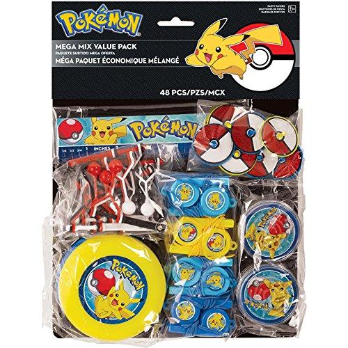 Amscam , Gastgeschenken Mega Mix Val Pck Pokemon Core (Einladungen Kids-spa-party)